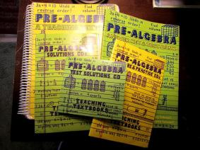 Teaching Textbooks Pre Algebra set-some wear, a little highlighting